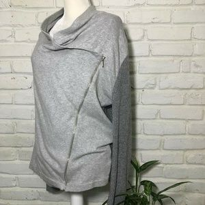 Zenergy Chicos Zip Sweater Size 1 Gray Knitted Arm